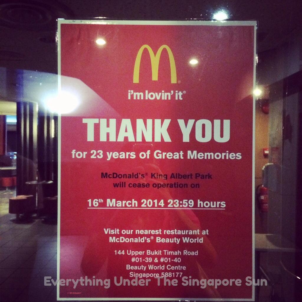 Goodbye KAP McDonald's