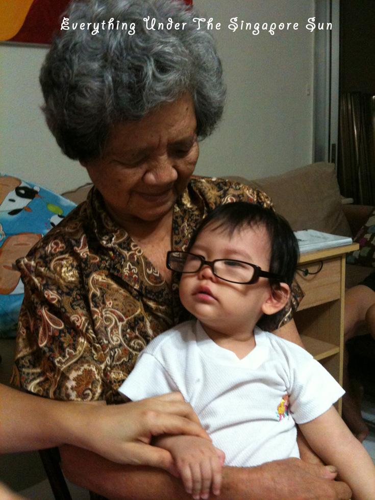 Pretending to as old as great-grandma...