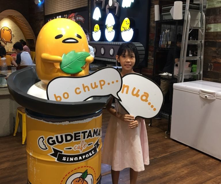 Grace is 9 and the Gudetama Cafe Review