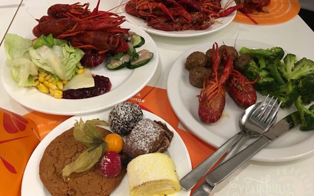 Crayfish buffet at IKEA